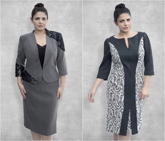 деловой костюм для полных 2014-2015 Dea London