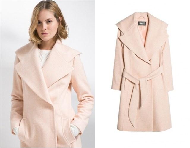 розовое пальто Mango осень-зима 2014-2015