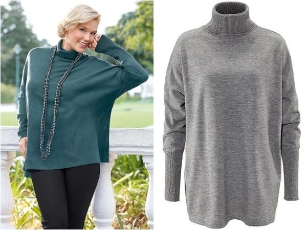 свободный свитер для полных Quelle