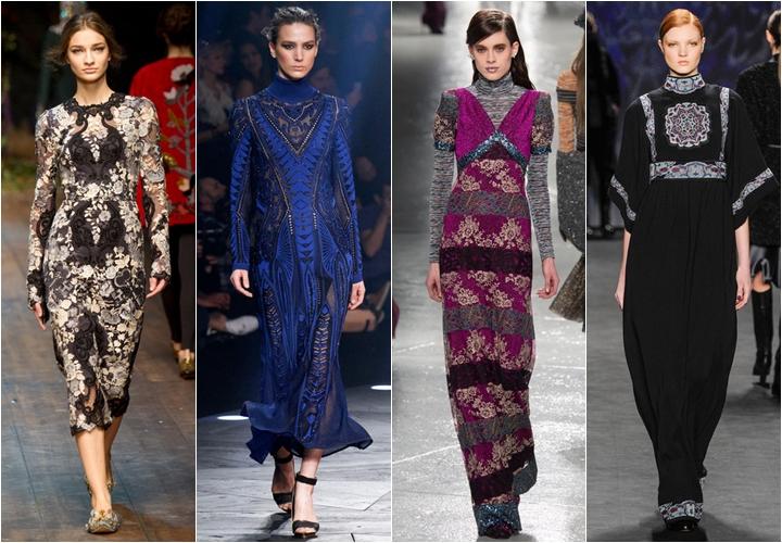 Платья в стиле барокко осень-зима 2014-2015