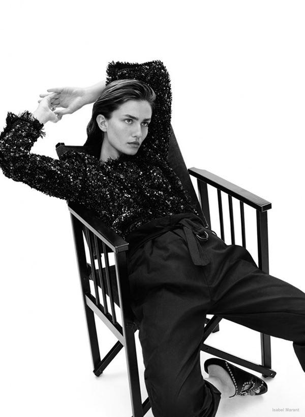 черный костюм с блузкой isabel marant resort 2015 (1)
