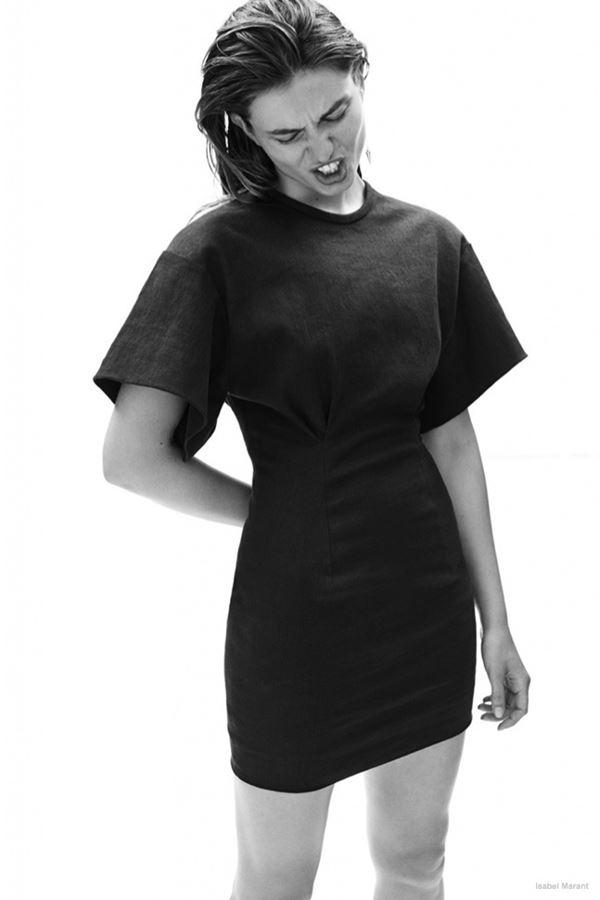 приталенное платье с широкими рукавами isabel marant resort 2015 (1)