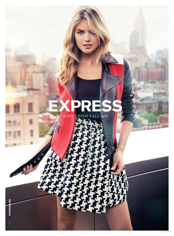 рекламная кампания одежды express осень-зима 2014 2015 с кейт аптон