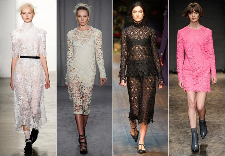 кружевные платья осень-зима 2014-2015