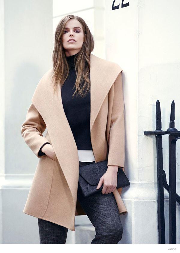 модное пальто для полных mango violeta осень-зима 2014-2015