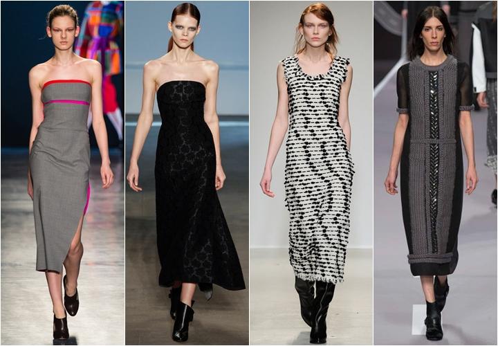миди платья осень-зима 2014-2015