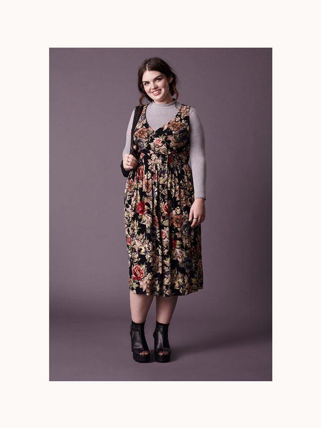 цветочное платье осень-зима 2014-2015 Asos Curve