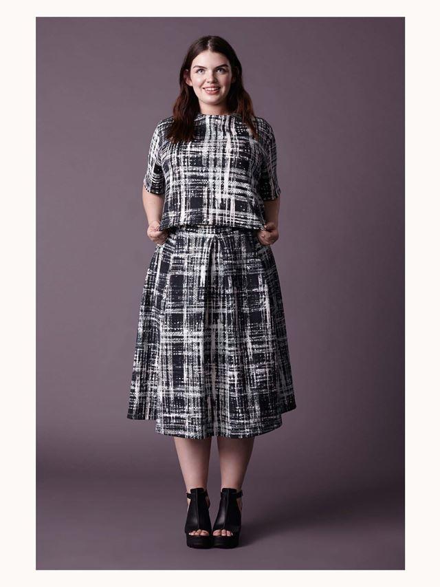 платье в клетку для полных осень-зима 2014-2015 Asos Curve