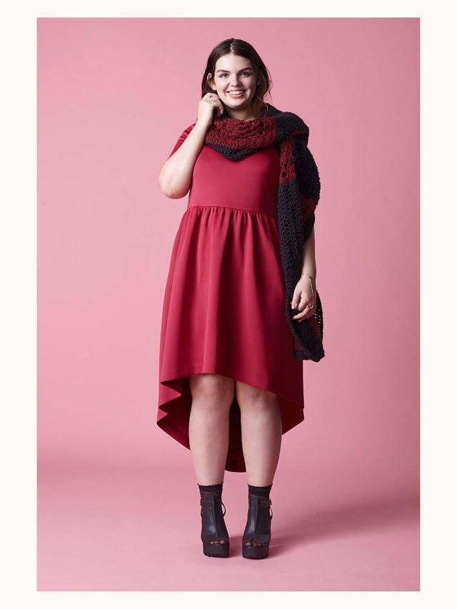 платье хай-лоу осень-зима 2014-2015 Asos Curve