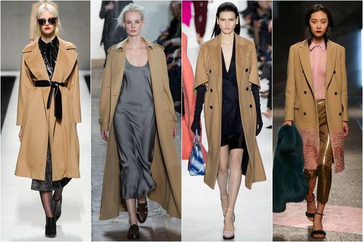 бежевые пальто осень-зима 2014-2015