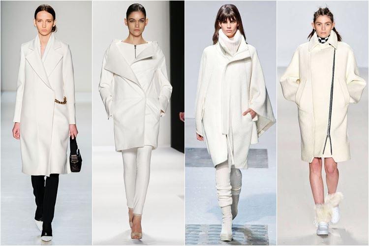белоснежные пальто осень-зима 2014-2015