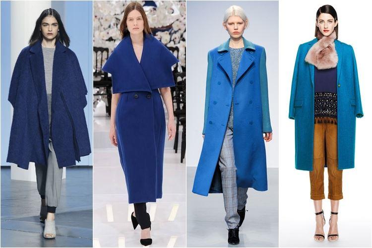 синие и голубые пальто осень-зима 2014-2015