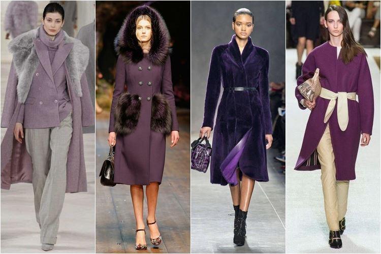 фиолетовые и сиреневые пальто осень-зима 2014-2015