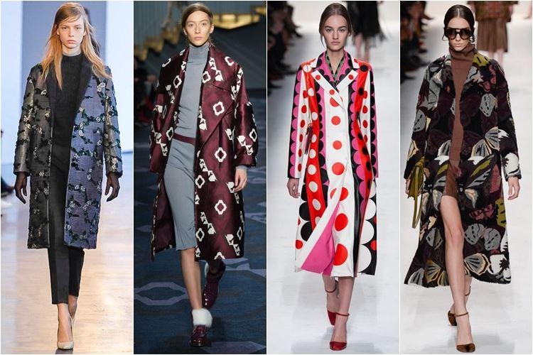 пальто с принтом осень-зима 2014-2015