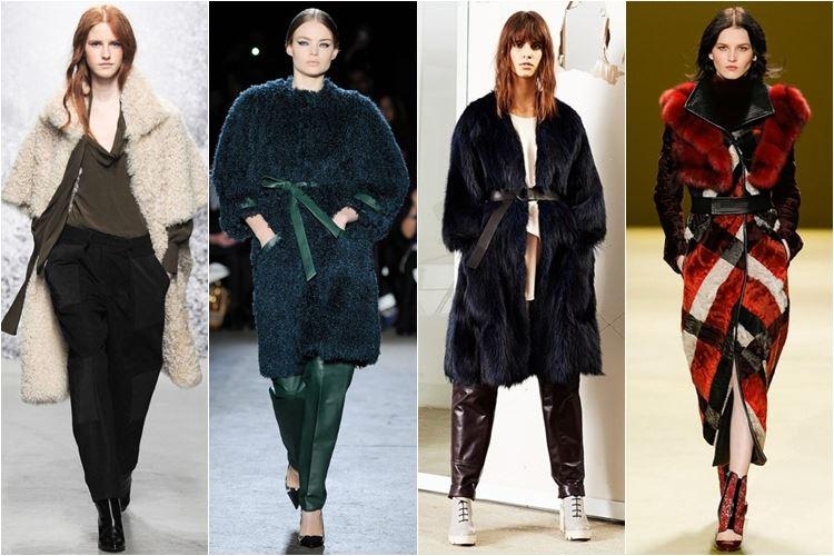 меховые пальто осень-зима 2014-2015