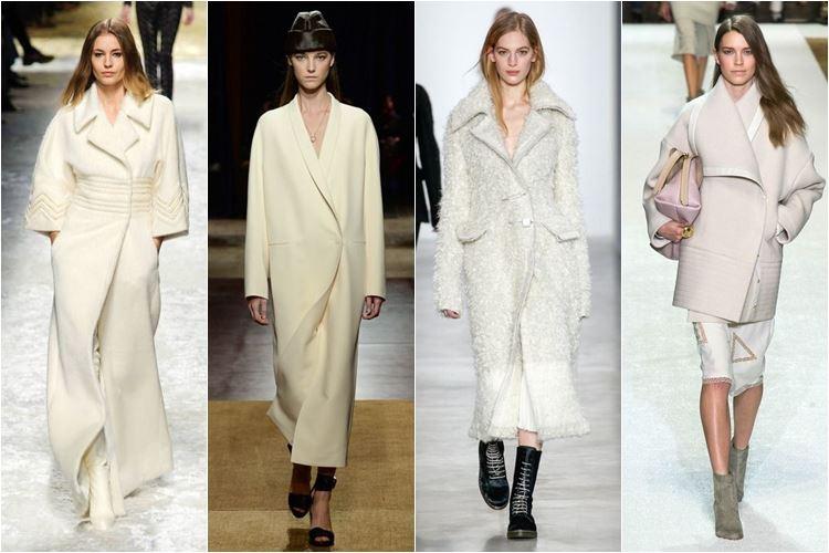 белые пальто осень-зима 2014-2015