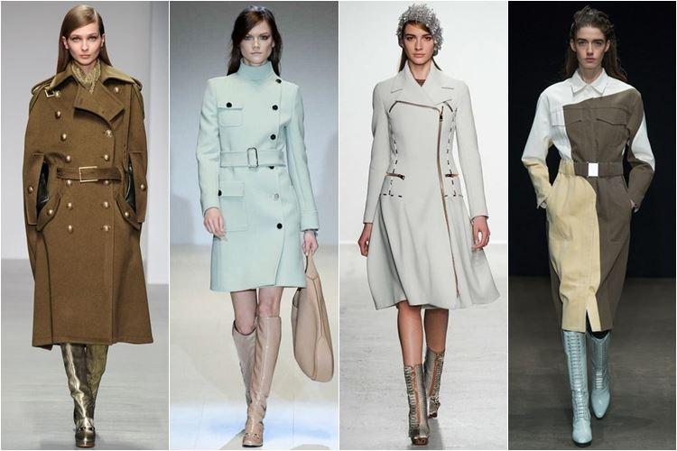 пальто в стиле милитари осень-зима 2014-2015