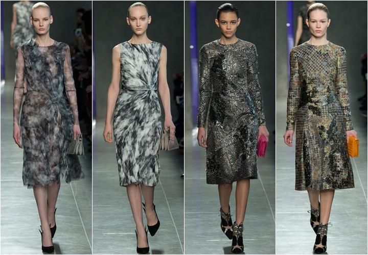 коллекция платьев bottega veneta осень-зима 2014-2015