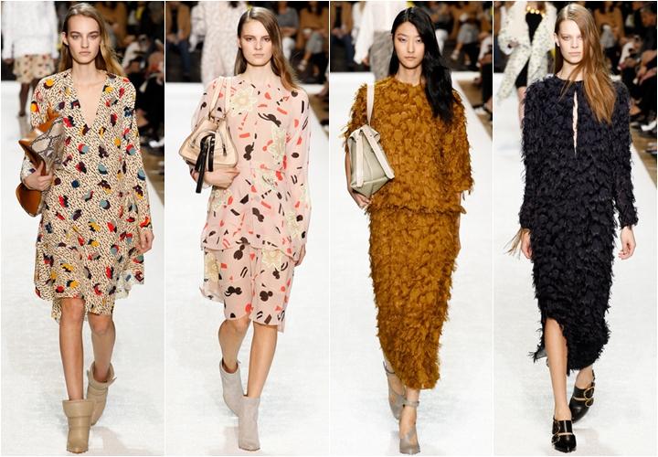 коллекция платьев chloe осень-зима 2014-2015