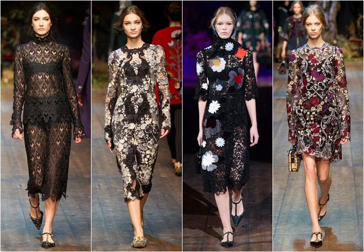 коллекция платьев dolce&gabbana осень-зима 2014-2015