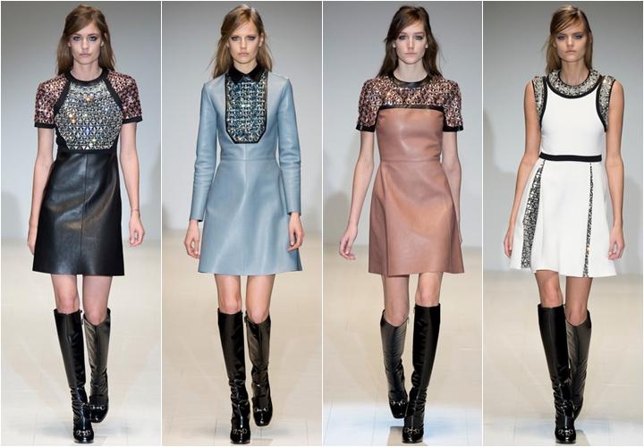 коллекция платьев gucci осень-зима 2014-2015