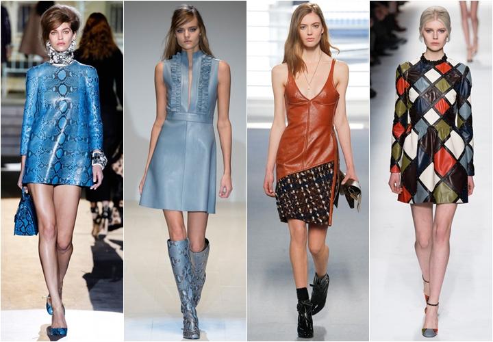 платья из кожи осень-зима 2014-2015