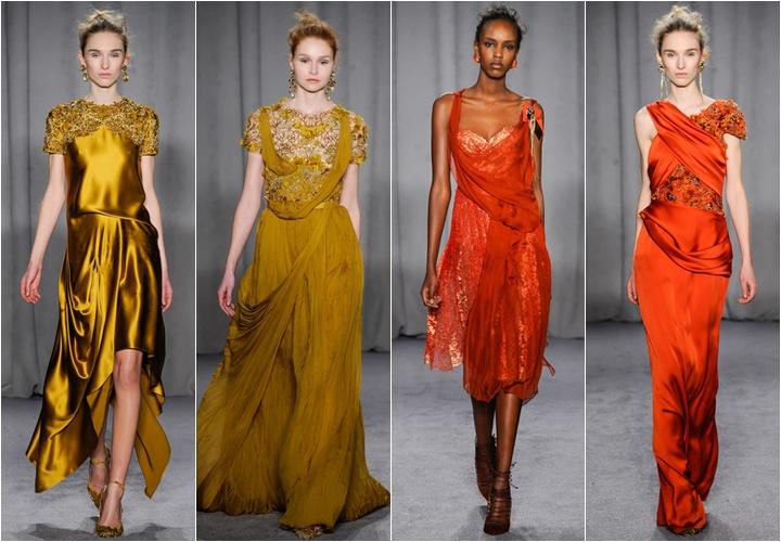коллекция платьев marchesa осень-зима 2014-2015