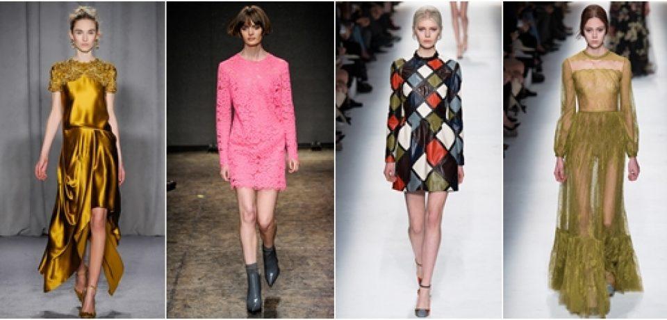 Платья осень-зима 2014-2015: модные фантазии