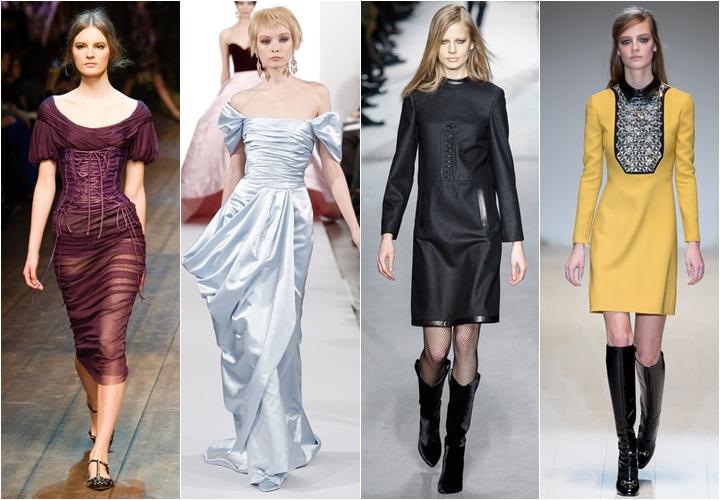 платья старинный стиль осень-зима 2014-2015