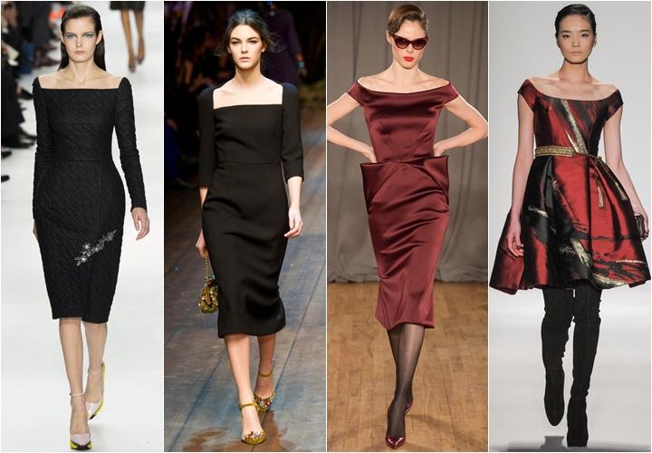 платья в стиле пятидесятых осень-зима 2014-2015