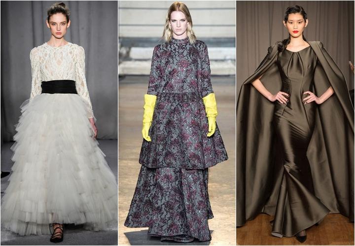 старинные платья осень-зима 2014-2015