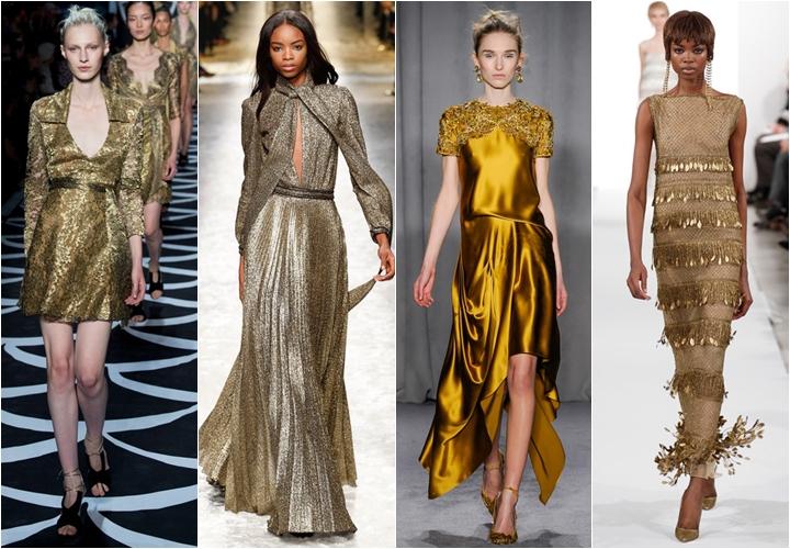 золотые платья осень-зима 2014-2015