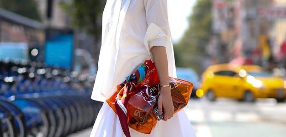 Блузки и рубашки в уличном стиле осени 2014 Недели Моды в Нью-Йорке весна-лето 2015