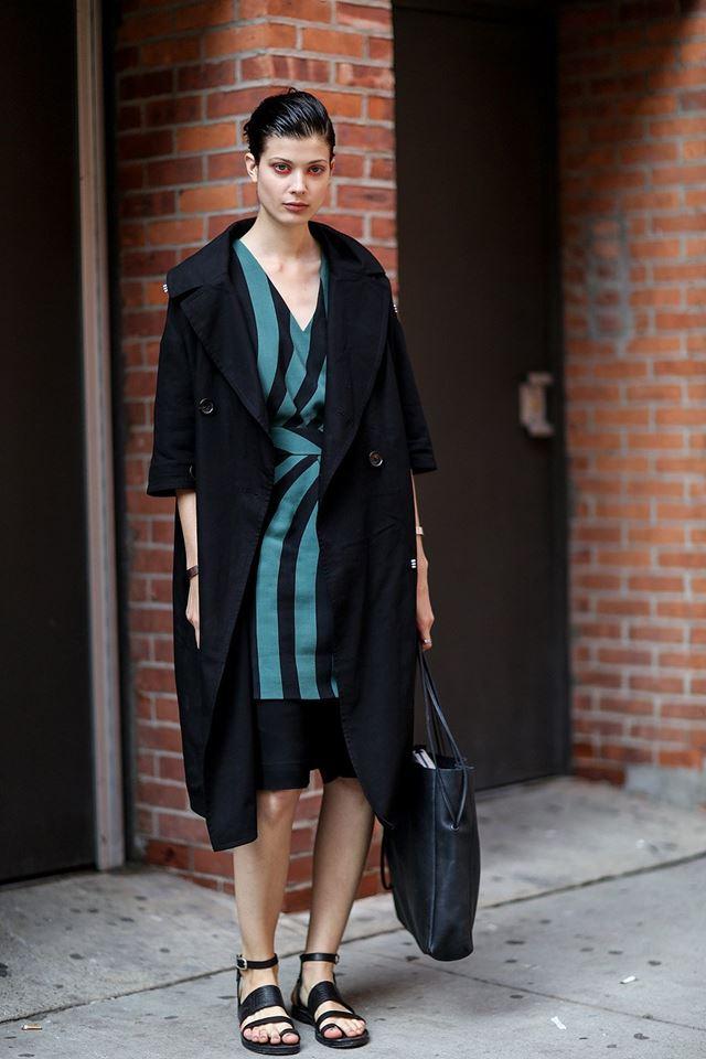 пальто xxl, уличная мода Нью-Йорка 2014-2015