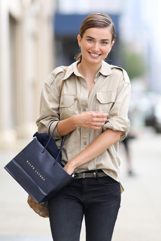 рубашка сафари, уличная мода Нью-Йорка 2014-2015