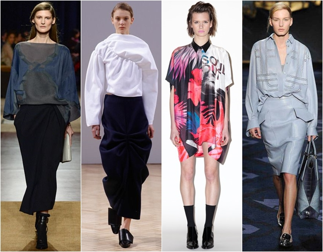 Свободные или объемные блузки осень-зима 2014-2015