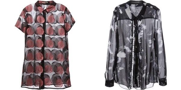 Полупрозрачные и шифоновые блузки осень-зима 2014-2015