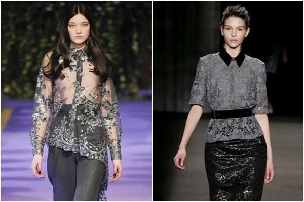 Кружевные блузки осень-зима 2014-2015