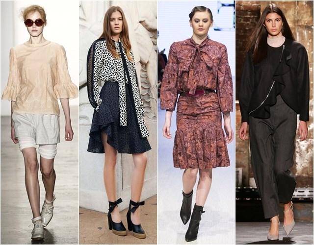 Женственные блузки с бантами и воланами осень-зима 2014-2015