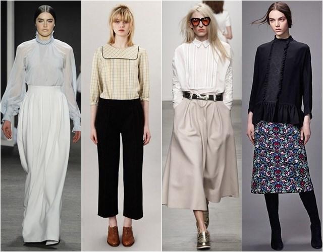 Блузки в стиле ретро осень-зима 2014-2015