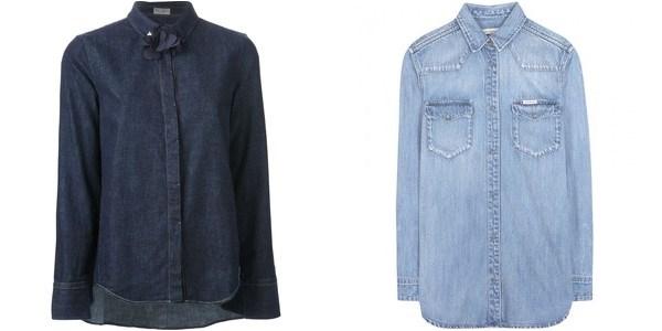 Джинсовые рубашки осень-зима 2014-2015