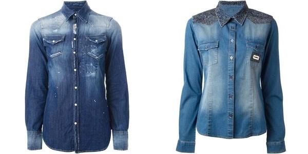 Рубашки из денима осень-зима 2014-2015