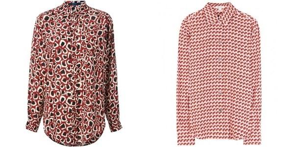 Блузки с мелким принтом осень-зима 2014-2015