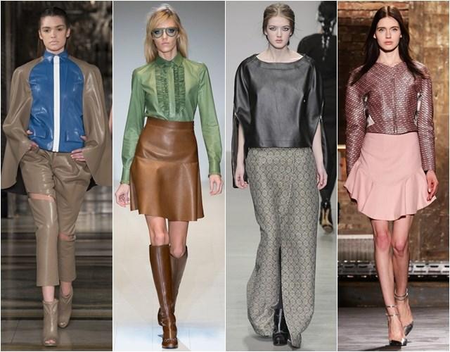 Кожаные блузки и туники осень-зима 2014-2015
