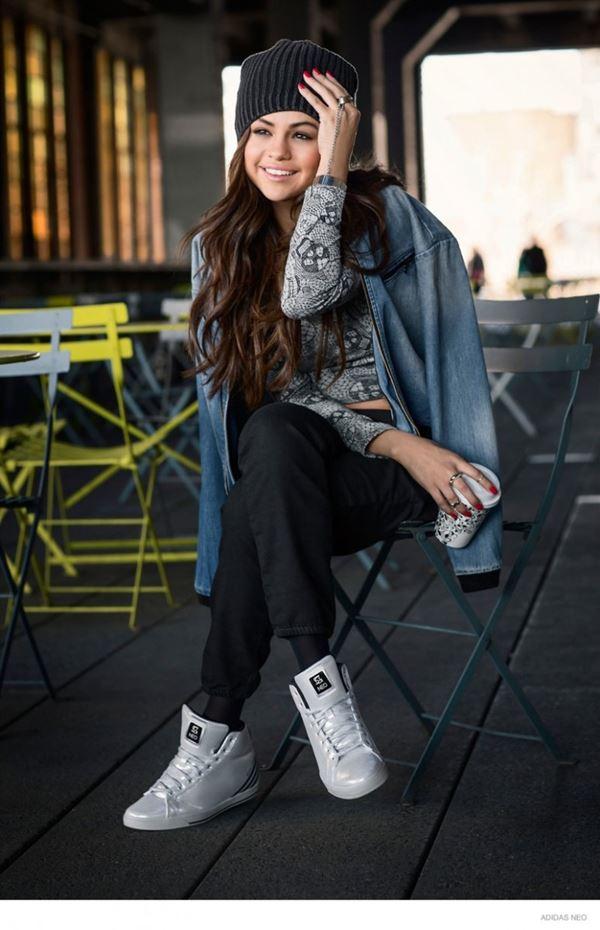селена гомес в рекламной кампании Adidas Neo осень-зима 2014-2015