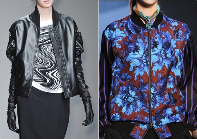 женские куртки-бомбер  осень-зима 2014-2015