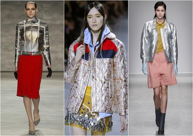 женские куртки блестящие осень-зима 2014-2015