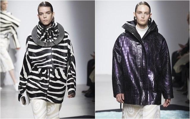 женские куртки с принтом зебра крокодил осень-зима 2014-2015