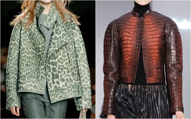 женские куртки леопард крокодил осень-зима 2014-2015