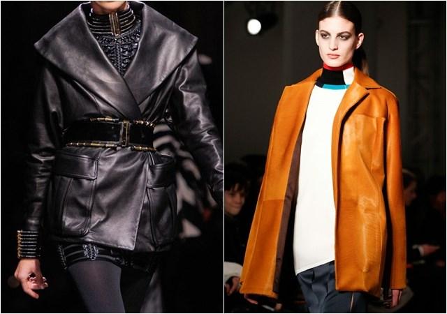 женские кожаные куртки осень-зима 2014-2015